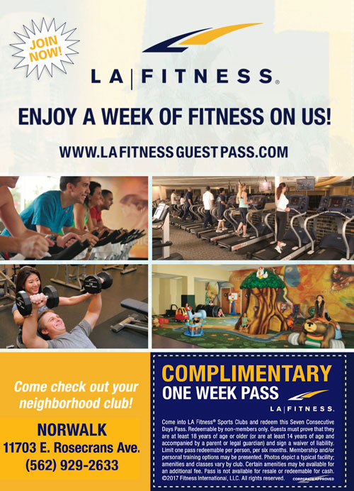 free coupon la fitness